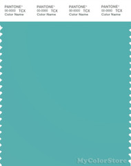 PANTONE SMART 15-5217X Color Swatch Card, Blue Turquoise