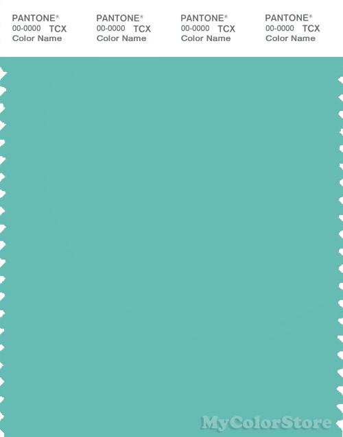 PANTONE SMART 15-5218X Color Swatch Card, Pool Blue