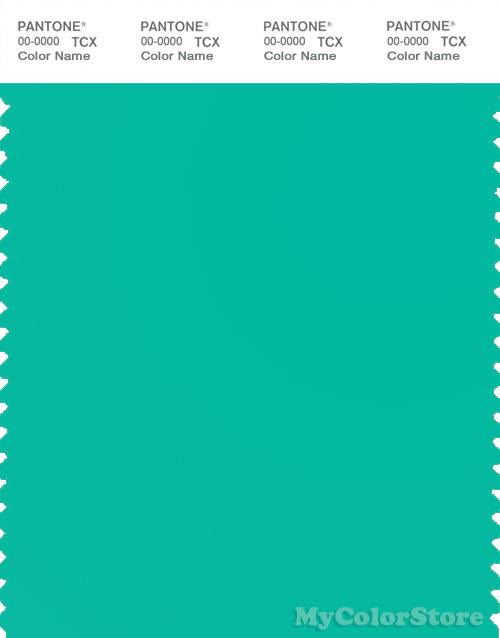PANTONE SMART 15-5421X Color Swatch Card, Aqua Green