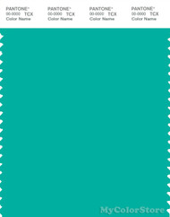 PANTONE SMART 15-5425X Color Swatch Card, Atlantis