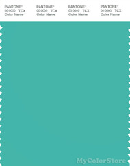 PANTONE SMART 15-5519X Color Swatch Card, Turquoise