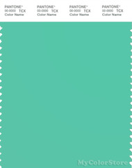 PANTONE SMART 15-5718X Color Swatch Card, Biscay Green