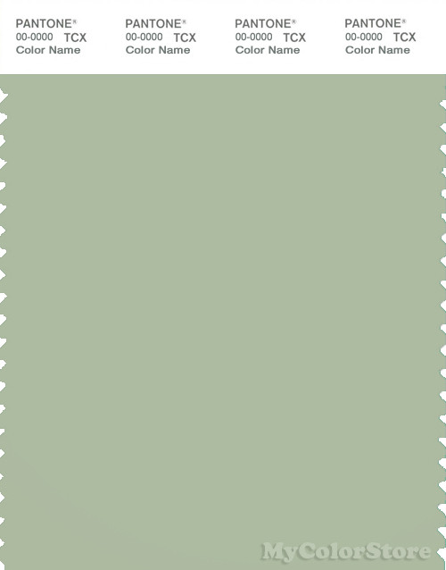 PANTONE SMART 15-6313X Color Swatch Card, Laurel Green