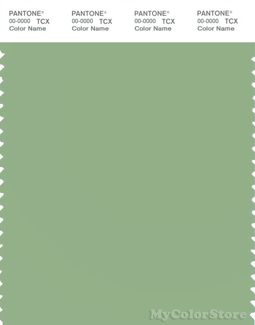 PANTONE SMART 15-6316X Color Swatch Card, Fair Green