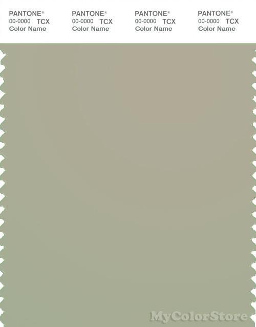 PANTONE SMART 15-6410X Color Swatch Card, Moss Gray