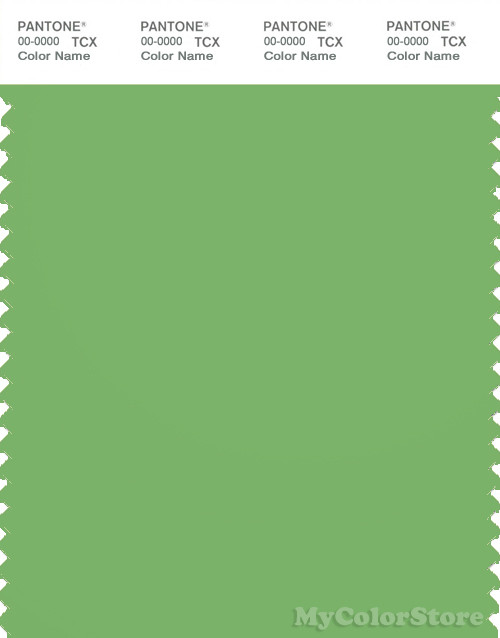PANTONE SMART 15-6437X Color Swatch Card, Grass Green