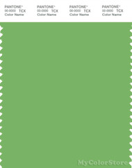 PANTONE SMART 15-6442X Color Swatch Card, Bud Green