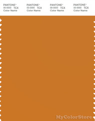 PANTONE SMART 16-1149X Color Swatch Card, Desert Sun