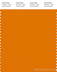 PANTONE SMART 16-1164X Color Swatch Card, Orange Pepper