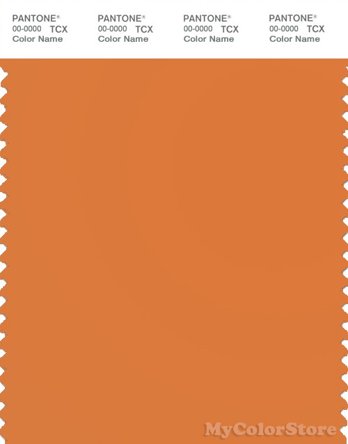 PANTONE SMART 16-1253X Color Swatch Card, Orange Ochre