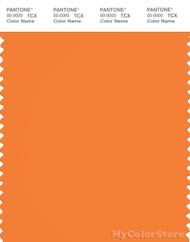 PANTONE SMART 16-1257X Color Swatch Card, Sun Orange