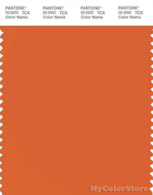 PANTONE SMART 16-1260X Color Swatch Card, Harvest Pumpkin