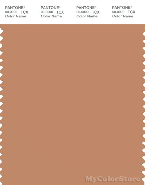PANTONE SMART 16-1327X Color Swatch Card, Toasted Nut