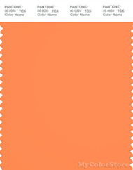 PANTONE SMART 16-1357X Color Swatch Card, Bird Of Paradise