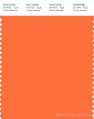 PANTONE SMART 16-1361X Color Swatch Card, Carrot