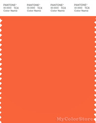 PANTONE SMART 16-1362X Color Swatch Card, Vermillion Orange