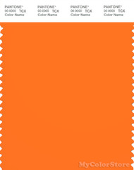 PANTONE SMART 16-1364X Color Swatch Card, Vibrant Orange