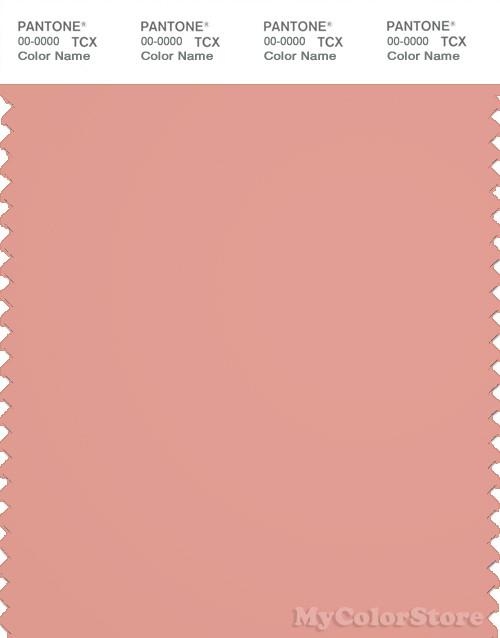 PANTONE SMART 16-1434X Color Swatch Card, Coral Almond