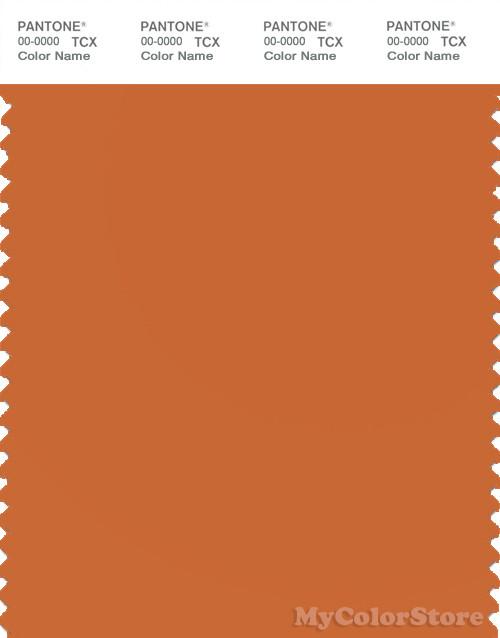 PANTONE SMART 16-1448X Color Swatch Card, Burnt Orange