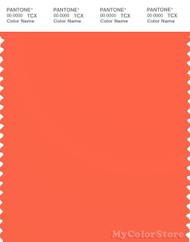 PANTONE SMART 16-1451X Color Swatch Card, Nasturtium