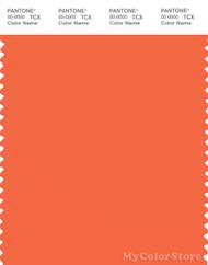 PANTONE SMART 16-1452X Color Swatch Card, Firecracker