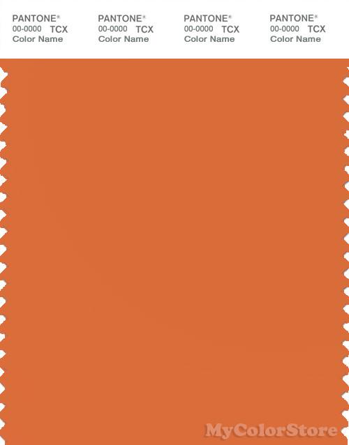 PANTONE SMART 16-1454X Color Swatch Card, Jaffa Orange
