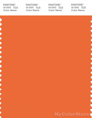 PANTONE SMART 16-1459X Color Swatch Card, Mandarin Orange