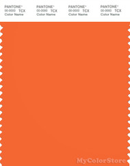 PANTONE SMART 16-1462X Color Swatch Card, Golden Poppy