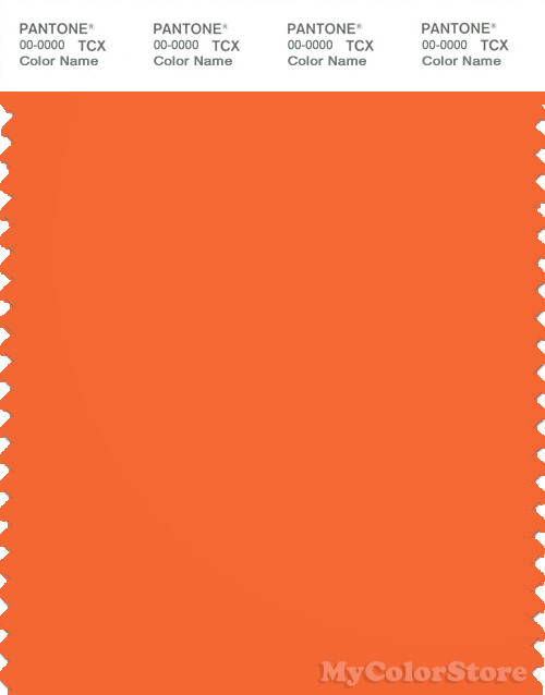 PANTONE SMART 16-1462X Color Swatch Card, Golden Poppy