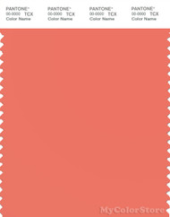 PANTONE SMART 16-1539X Color Swatch Card, Coral