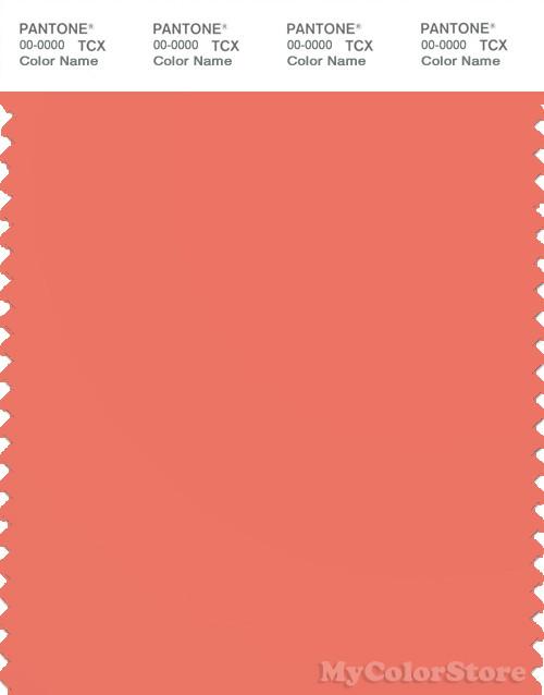 Pantone Smart 16 1539 Tcx Color Swatch Card Pantone Coral