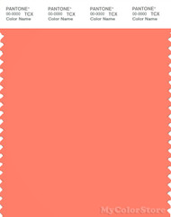 PANTONE SMART 16-1542X Color Swatch Card, Fresh Salmon