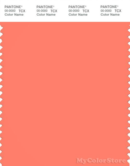 PANTONE SMART 16-1542X Color Swatch Card, Fresh Salmon