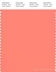 PANTONE SMART 16-1543X Color Swatch Card, Fusion Coral
