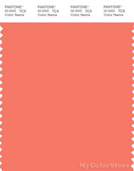 PANTONE SMART 16-1544X Color Swatch Card, Persimmon