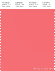PANTONE SMART 16-1640X Color Swatch Card, Sugar Coral