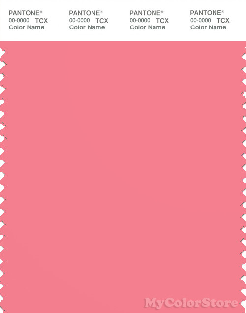 PANTONE SMART 16-1731X Color Swatch Card, Strawberry Pink