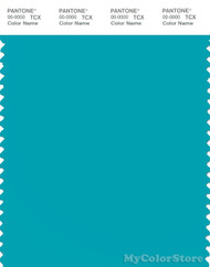 PANTONE SMART 16-4728X Color Swatch Card, Peacock Blue