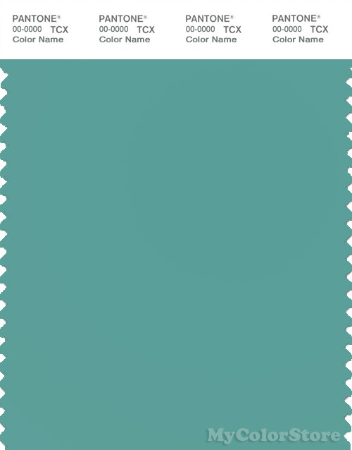 PANTONE SMART 16 5412 TCX Color Swatch Card Agate Green