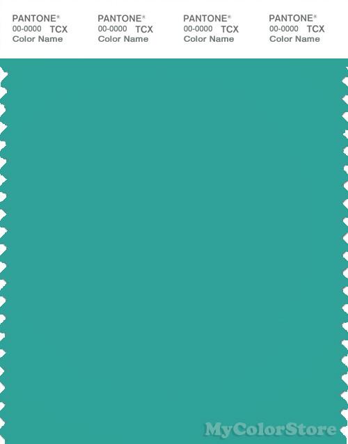 PANTONE SMART 16-5422X Color Swatch Card, Bright Aqua