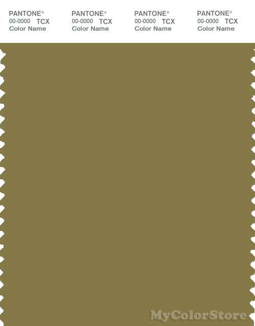 PANTONE SMART 17-0636X Color Swatch Card, Green Moss