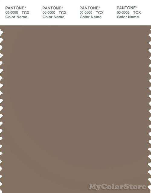 PANTONE SMART 17-0909X Color Swatch Card, Fossil