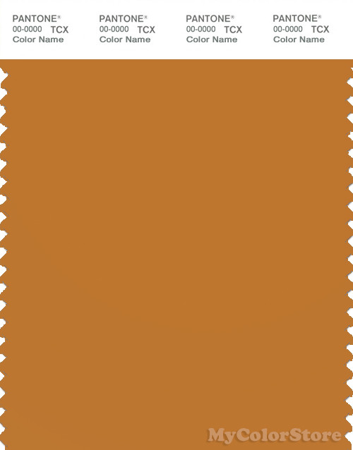 PANTONE SMART 17-1046X Color Swatch Card, Golden Oak