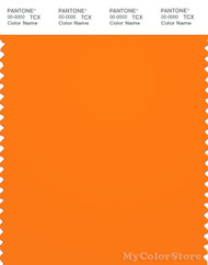 PANTONE SMART 17-1350X Color Swatch Card, Orange Popsicle