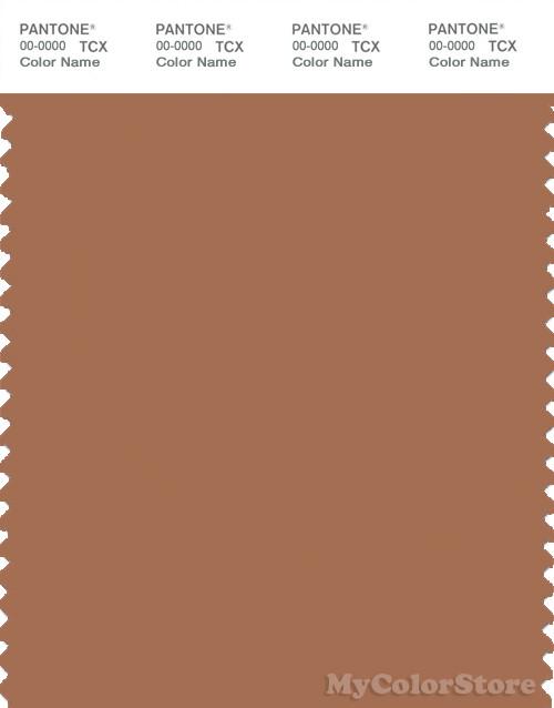 PANTONE SMART 17-1430X Color Swatch Card, Pecan Brown
