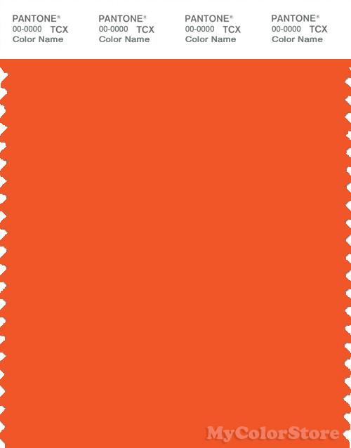 Pantone Smart 17 1464 Tcx Color Swatch Card Pantone Red Orange