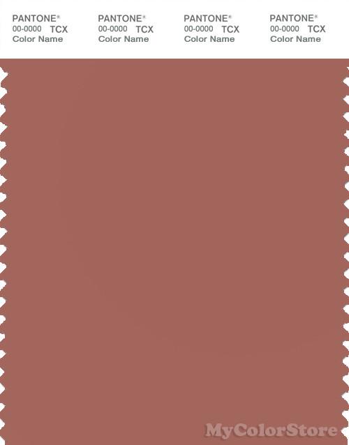 PANTONE SMART 17-1525X Color Swatch Card, Cedar Wood