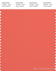 PANTONE SMART 17-1547X Color Swatch Card, Emberglow