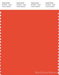PANTONE SMART 17-1562X Color Swatch Card, Mandarin Red