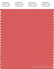 PANTONE SMART 17-1644X Color Swatch Card, Spiced Coral